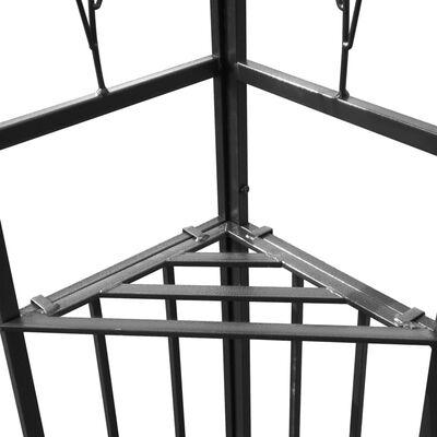 vidaXL Prieel met dubbel dak 180 g/m² 3x4 m taupe