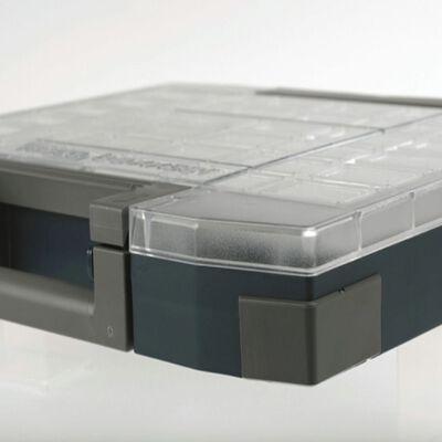 Raaco assortimentsdoos Boxxser 55 5x10 met 25 inzetbakjes 134873