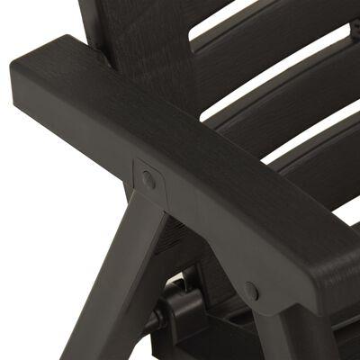vidaXL 3-delige Bistroset inklapbaar kunststof grijs,
