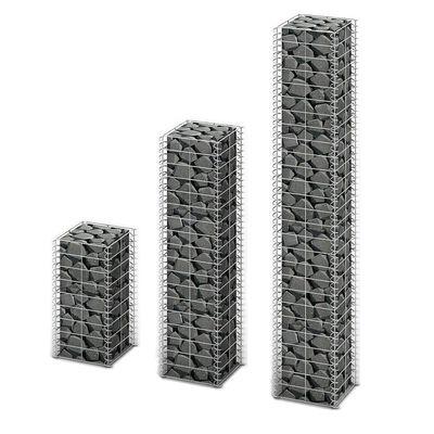 vidaXL 3-delige Schanskorfset gegalvaniseerd draad