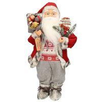 Staande Kerstman decoratie pop 46 cm - Kerst versiering/decoratie -