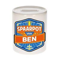Kinder spaarpot voor Ben - keramiek - naam spaarpotten
