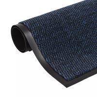 vidaXL Droogloopmat rechthoekig getuft 90x150 cm blauw
