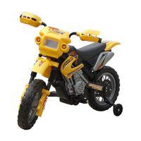 Kinder motor Crosser elektrisch 6 volt geel