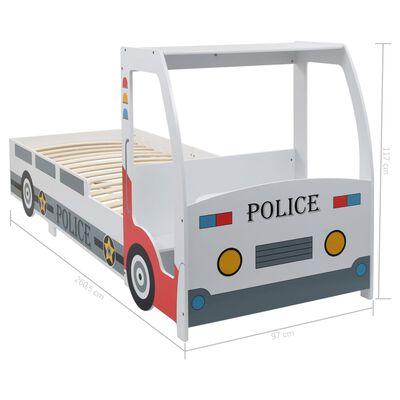 vidaXL Kinderbed politieauto met bureau 90x200 cm
