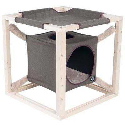 Quapas! Kattenbed met hangmat Catcube L 62,5x62,5x62,5 cm olijfgroen