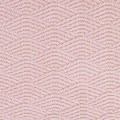 Jollein Deken River Knit 75x100 cm fleece lichtroze