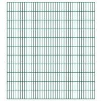vidaXL Dubbelstaafmatten 2,008x2,23 m 50 m (totale lengte) groen