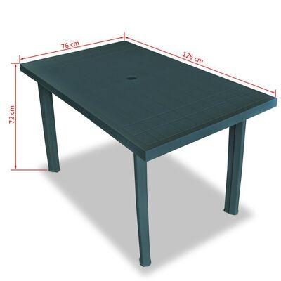 vidaXL 5-delige Tuinset kunststof groen