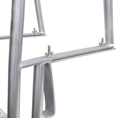 vidaXL Dok/zwembadladder met 4 treden aluminium 167 cm