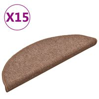 vidaXL Trapmatten 15 st 56x17x3 cm bruin