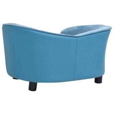 vidaXL Hondenbank 69x49x40 cm pluche en kunstleer turquoise