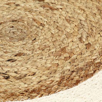 vidaXL Placemats 4 st rond 38 cm jute en katoen natuurlijk