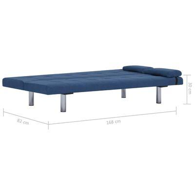 vidaXL Slaapbank met twee kussens polyester blauw