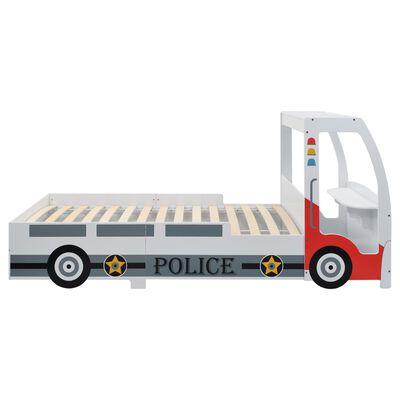 vidaXL Kinderbed politieauto met 7 Zone H2 matras 90x200 cm