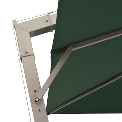 vidaXL Zweefparasol met aluminium paal 300x300 cm groen