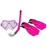 Waimea junior duik set met masker/snorkel/vin 34-38 roze/zwart