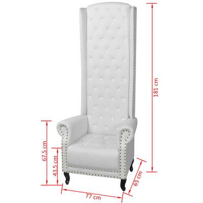 vidaXL Hoge fauteuil wit 77x65x181 cm