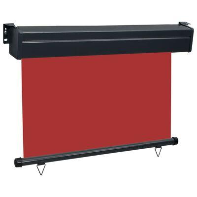 vidaXL Balkonscherm 80x250 cm rood