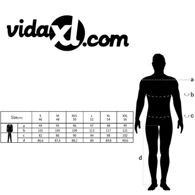 vidaXL Tweedelig pak met stropdas mannen maat 48 wit