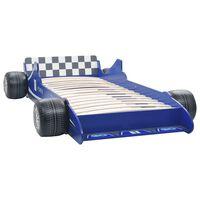 vidaXL Kinderbed raceauto blauw 90x200 cm