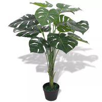 vidaXL Kunst monstera plant met pot 70 cm groen