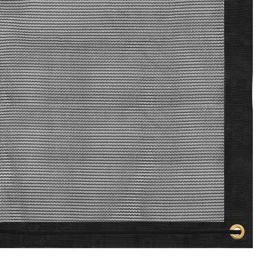 vidaXL Aanhangwagennet 2,5x3,5 m HDPE zwart,
