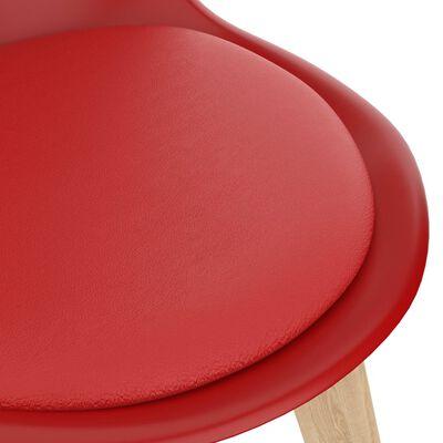 vidaXL 3-delige Eethoek rood