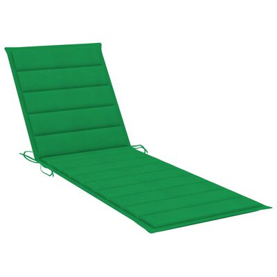 vidaXL Ligbedkussen 200x60x4 cm stof groen
