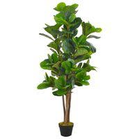 vidaXL Kunstplant met pot vioolbladplant 152 cm groen