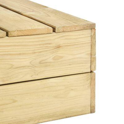 vidaXL Tuintafel 75x75x31 cm geïmpregneerd grenenhout