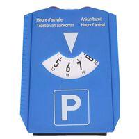 Luxe blauwe parkeerschijf met krabber