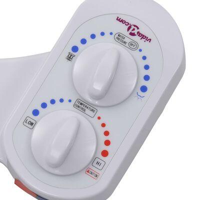 vidaXL Bidetaansluiting voor toiletbril warm/koud water enkel mondstuk