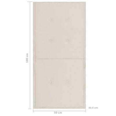 vidaXL Tuinstoelkussens 4 st 100x50x4 cm crèmekleurig