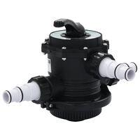 """vidaXL Multipoortventiel voor zandfilter 6-weg 1,5"""" ABS"""