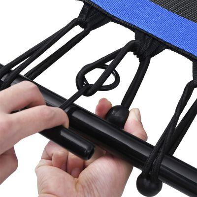 vidaXL Fitnesstrampoline met handgreep veiligheidsmat zeshoekig 122 cm