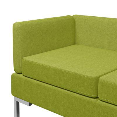 vidaXL 7-delig Bankstel stof groen