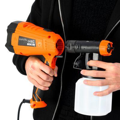 vidaXL Verfspuit elektrisch met 3 mondstukken 500 W 800 ml