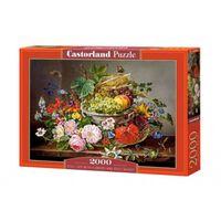 Castorland legpuzzel stilleven met bloemen/fruitmand 2000 stukjes