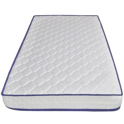 vidaXL Bed met traagschuim matras stof lichtgrijs 90x200 cm