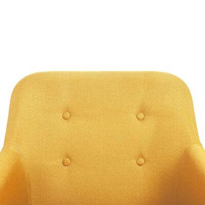vidaXL Eetkamerstoelen 6 st stof en massief eikenhout geel