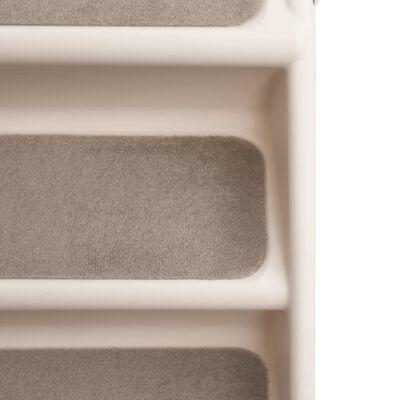 vidaXL Hondentrap inklapbaar 62x40x49,5 cm crème