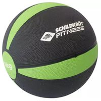 Schildkröt Fitness medicijnbal 19,5 cm 1 kg groen/zwart
