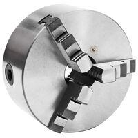 vidaXL Klauwplaat met 3 bekken zelfcentrerend 160 mm staal