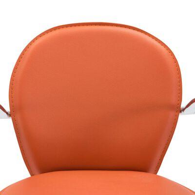 vidaXL Barkrukken met armleuning 2 st kunstleer oranje