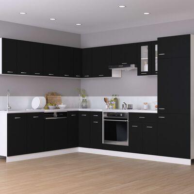 vidaXL Hangkast 80x31x60 cm spaanplaat zwart