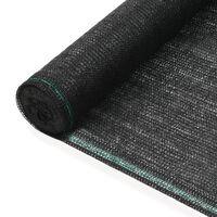 vidaXL Tennisscherm 2x100 m HDPE zwart