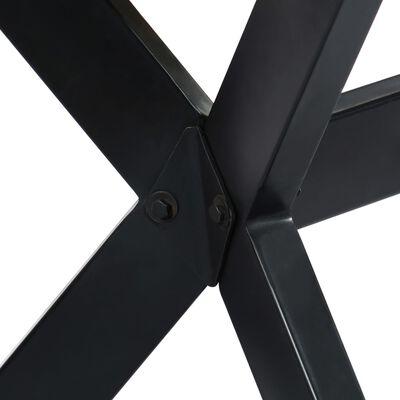 vidaXL Eettafel 140x70x75 cm massief ruw mangohout