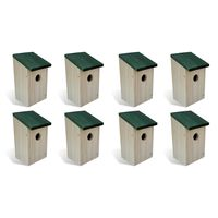 vidaXL Vogelhuisjes 8 st 12x12x22 cm hout