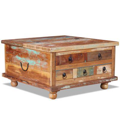 vidaXL Salontafel 70x70x38 cm gerecycled hout